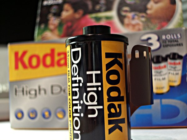 Photo of a roll of Kodak HD film