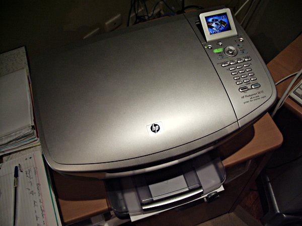 A photo of the printer