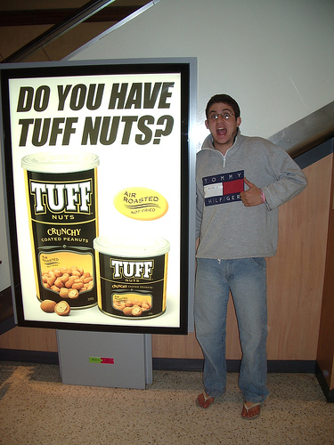 An ad for Tuff Nuts