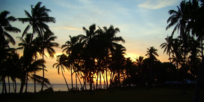 Sunset at Tubakula, Coral Coast, Fiji