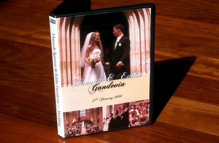 Wedding DVD video cover front