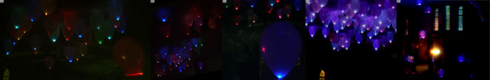 Balloons with LED illumination